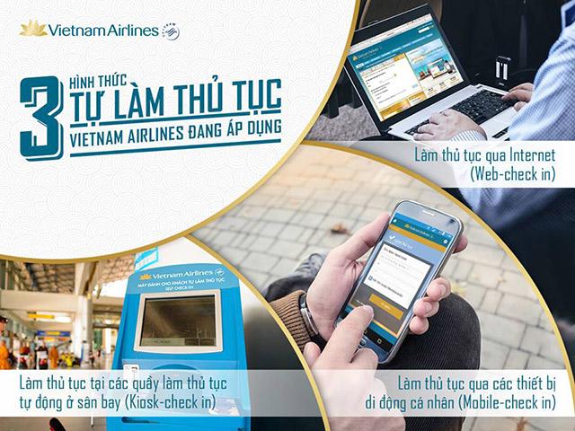 Hướng dẫn check in trực tuyến các hãng hàng không Vietnam Airlines, Vietjet