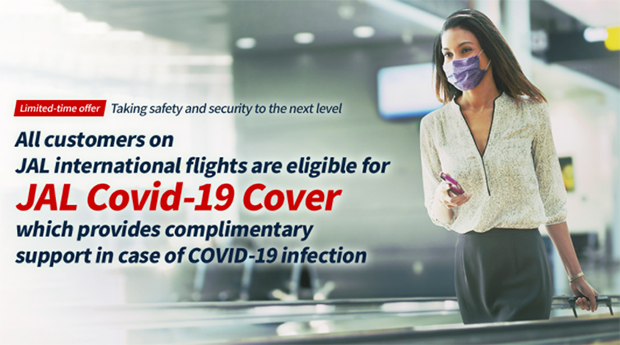 """Japan Airlines (JAL) triển khai chương trình hỗ trợ miễn phí """"JAL Covid-19 Cover"""""""