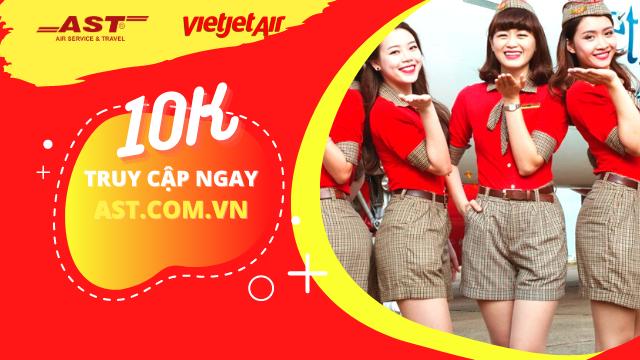 Chỉ từ 10.000đ - Vietjet tung triệu vé bay nội địa Việt Nam