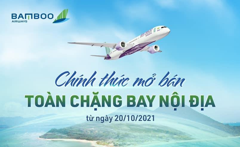 31 đường bay khứ hồi nội địa của Bamboo Airlines đã được mở bán trên website AST.COM.VN