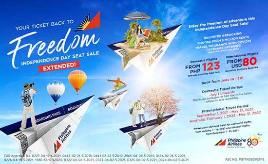 Giảm giá chỗ ngồi cho Ngày Quốc khánh của Philippine Airlines!